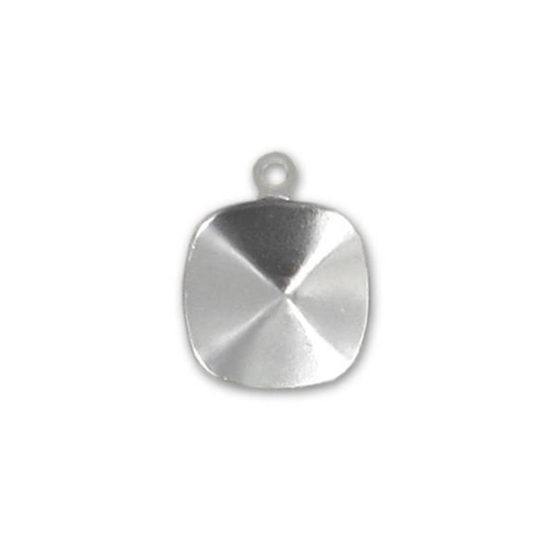 10mm Оправа для Сваровски квадрат 4470 цвет Золота с кольцом