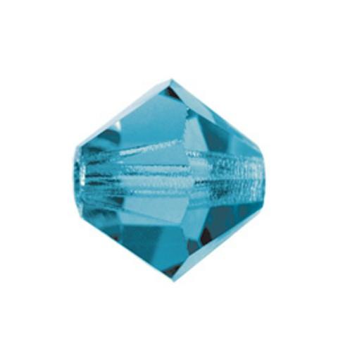 4MM Indicolite (60100) BiCone Rondell Preciosa бусины