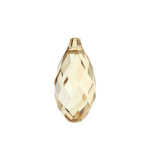 17x8.5MM Crystal Golden Shadow (001 GSHA) Briolette Pendant 6010 SWAROVSKI ELEMENTS
