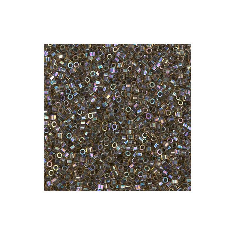 DBC-0085 Blue Lined Aqua AB Miyuki DELICA Hex Cut 11/0 Seed Beads