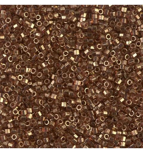 DBC-0115 Dark Topaz Gold Luster Miyuki DELICA Hex Cut 11/0 Seed Beads