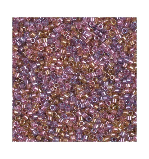 DB-982 Sparkle Lined Shades Violet - Rose & Topaz MIYUKI DELICA 11/0 seed beads