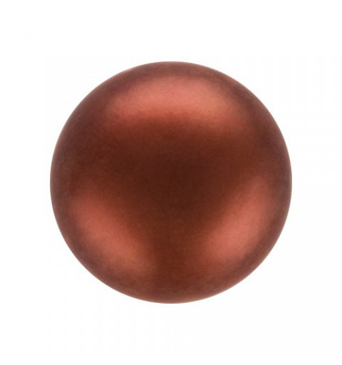 8MM Dark Copper (78900) Nacre Pearl round Preciosa