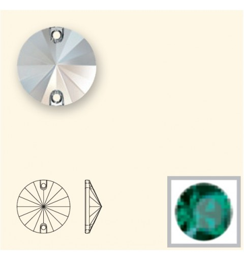 14MM Emerald F (205) 3200 Rivoli SWAROVSKI ELEMENTS