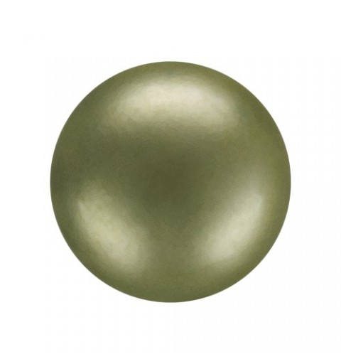 10MM Dark Green (75800) Nacre Pearl round Preciosa