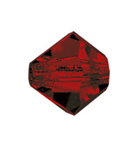4MM Siam (90090) BiCone Rondell Preciosa Beads