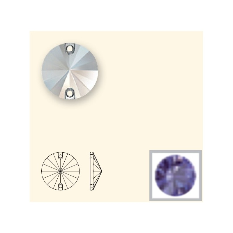 14MM Tanzanite F (539) 3200 Rivoli SWAROVSKI ELEMENTS