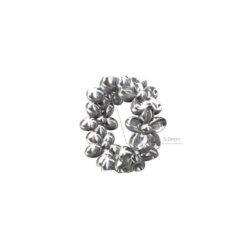 Серебряный 925 Стерлинг Рондель с Кристаллами 5х3мм
