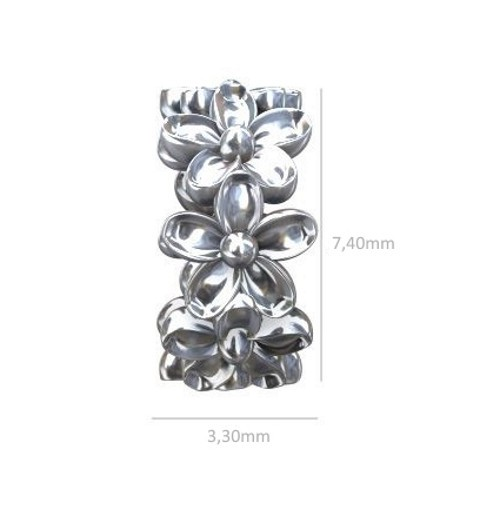 Sterling 925 Silver Rondell with Crystals 5x3mm