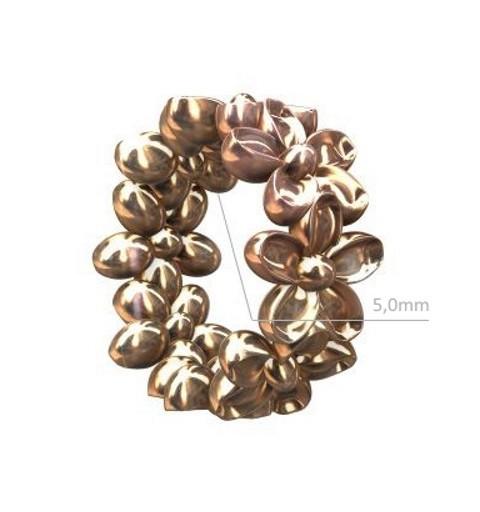 Sterling 925 Hõbe rose gold plated Rondell lilledega 7.4x3.3mm