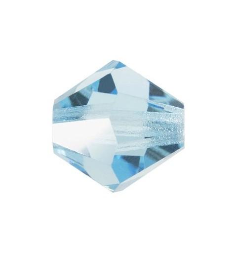 6MM Aqua Bohemica (60010) Bi-Cone Rondell Preciosa Beads