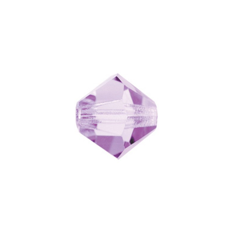 4MM Violet (20310) Bi-Cone Rondell Preciosa helmes