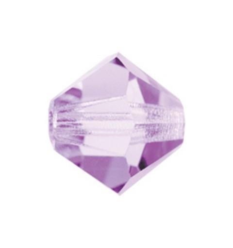 4MM Violet (20310) Bi-Cone Rondell Preciosa Beads