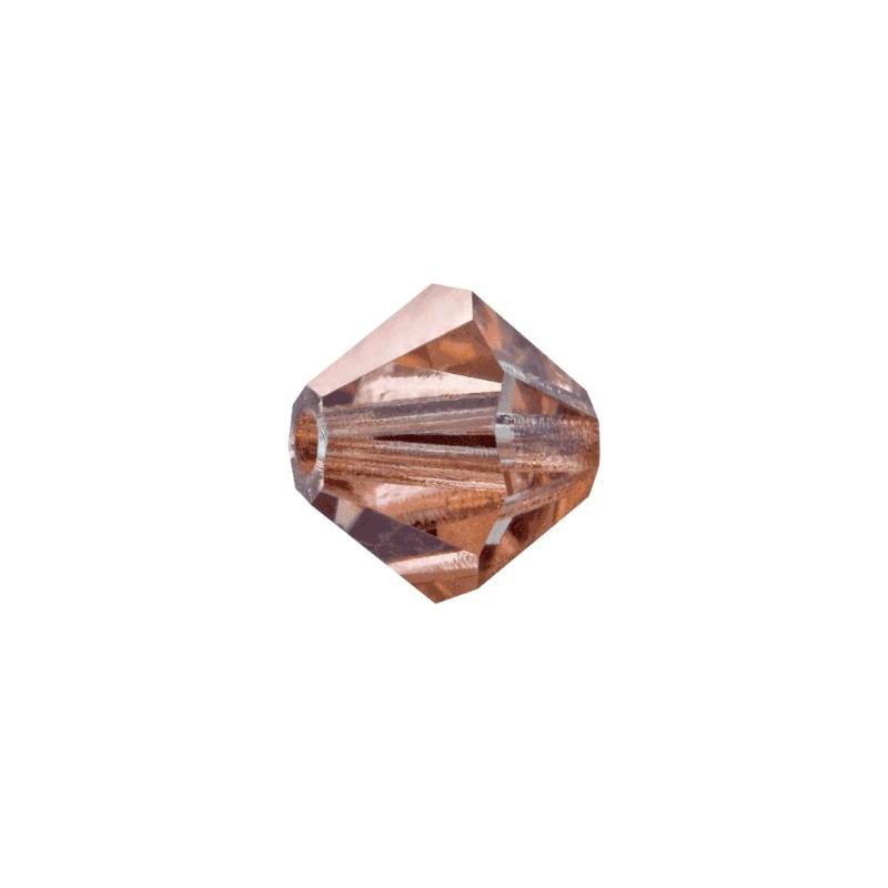 4MM Crystal Capri Gold (00030 271 CaG) Bi-Cone Rondell Preciosa Beads