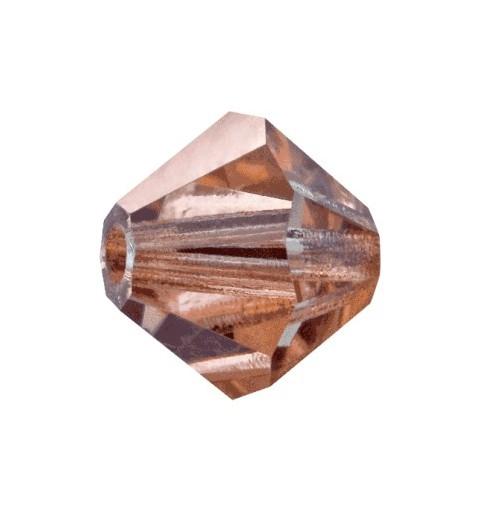 6MM Crystal Capri Gold (00030 271 CaG) Bi-Cone Rondell Preciosa Beads