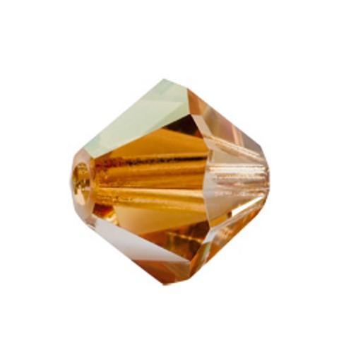 4MM Crystal Celsian (00030 Cel) Bi-Cone Rondell Preciosa Beads