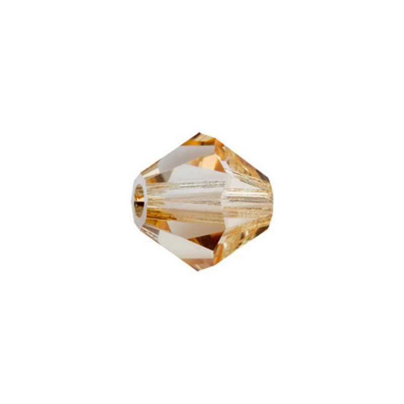 6MM Crystal Honey (00030 Hon) Bi-Cone Rondell Preciosa Beads
