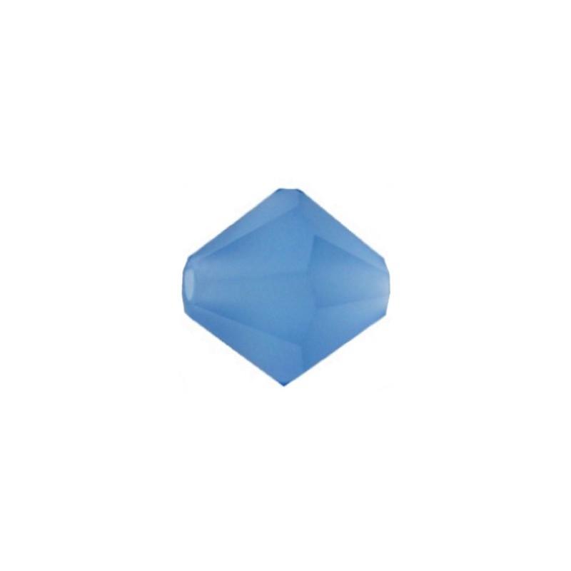 4MM Capri Blue Matt (60310M) Bi-Cone Rondell Preciosa helmes