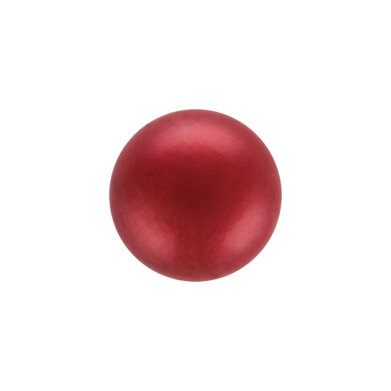 12MM Red (79500) Nacre Pearl round Preciosa
