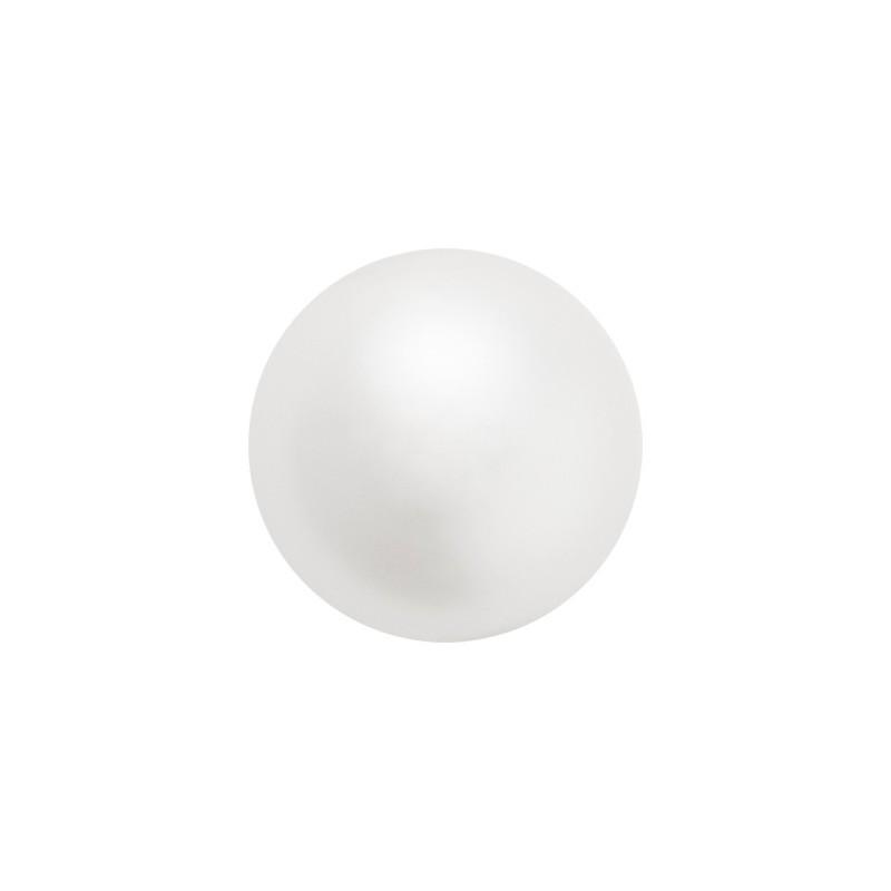 10MM White (70000) Nacre Pearl round Preciosa