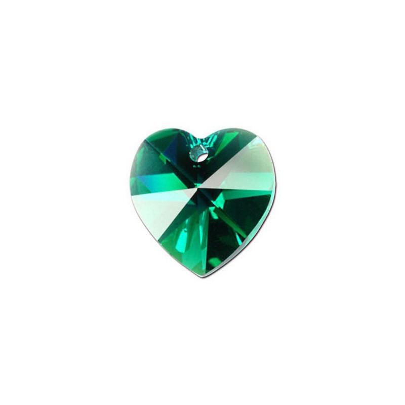10.3x10MM Emerald (205) XILION Heart Pendants 6228 SWAROVSKI ELEMENTS