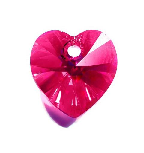 10.3x10MM Fuchsia AB (502 AB) XILION Heart Pendants 6228 SWAROVSKI ELEMENTS