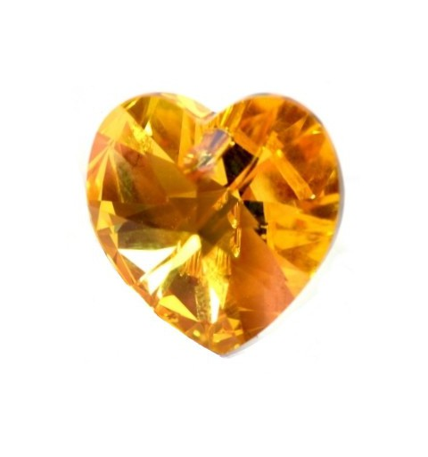 10.3x10MM Light Topaz AB (226 AB) XILION Heart Pendants 6228 SWAROVSKI ELEMENTS