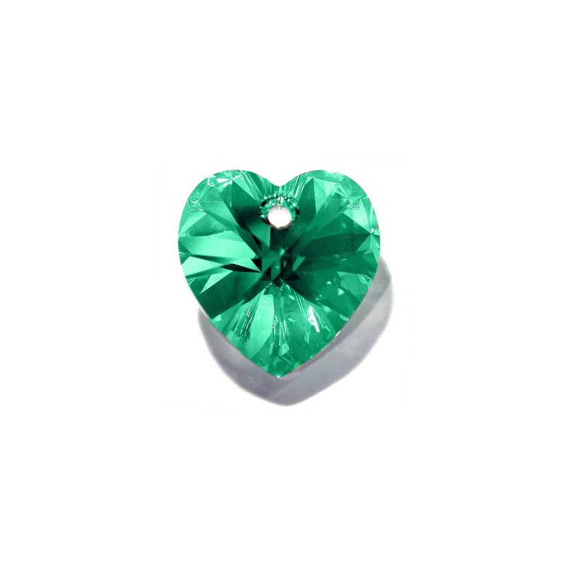 14.4x14MM Peridot AB (214 AB) XILION Heart Pendants 6228 SWAROVSKI ELEMENTS