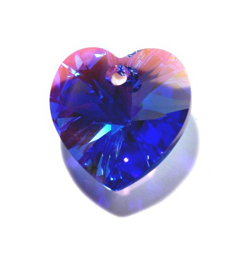 14.4x14MM Sapphire AB (206 AB) XILION Heart Pendants 6228 SWAROVSKI ELEMENTS