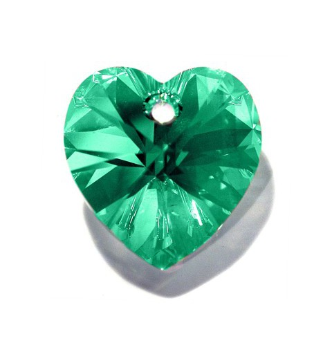 18x17.5MM Peridot AB (214 AB) XILION Heart Pendants 6228 SWAROVSKI ELEMENTS