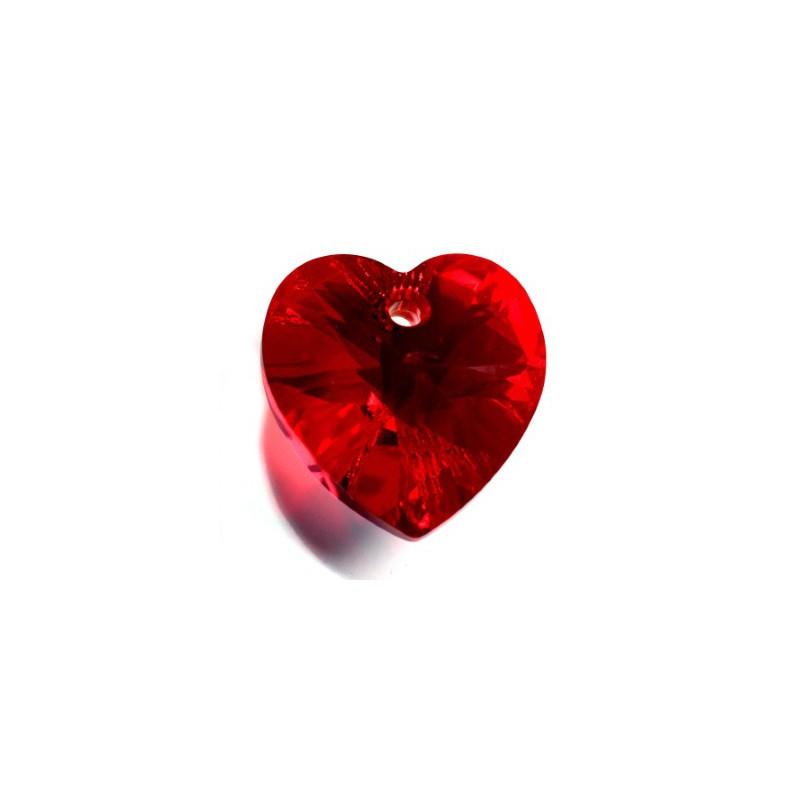 14.4x14MM Sapphire AB (206 AB) XILION Heart Pendants 6228 SWAROVSKI ELEMENTS