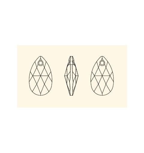 22MM PERIDOT (214) 6106 SWAROVSKI ELEMENTS