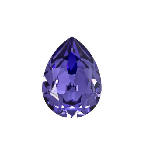 18x13mm Tanzanite F (539) Pear-Shaped Fancy Stone 4320 Swarovski Elements