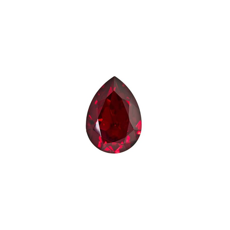 18x13mm Siam F (208) Pear-Shaped Fancy Stone 4320 Swarovski Elements