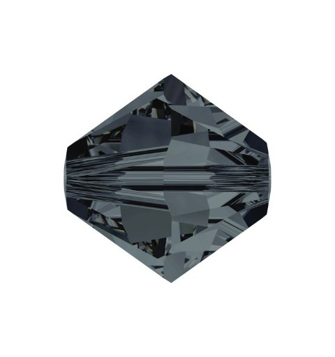 4MM Graphite (253) 5328 XILION Bi-Cone Beads SWAROVSKI ELEMENTS