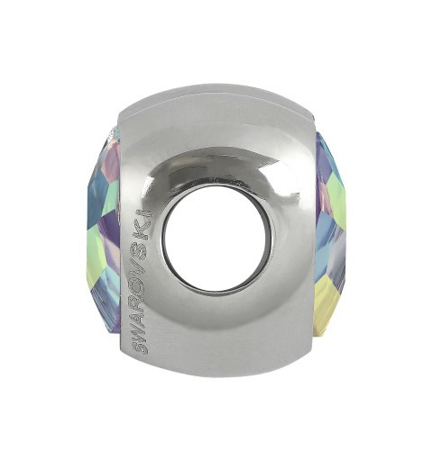 14mm BeCharmed Pavé Heart 81951 Rosaline (508) MetalBead Swarovski Elements