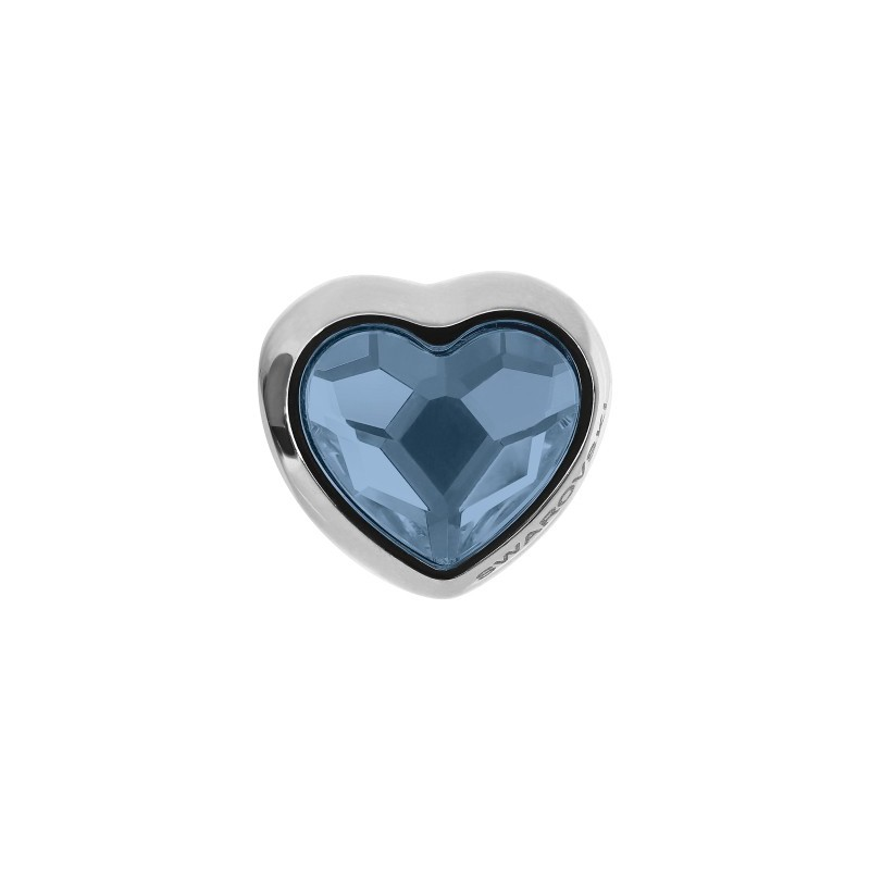 14mm BeCharmed Pavé Heart 81951 Crystal AB (001 AB) MetalBead Swarovski Elements