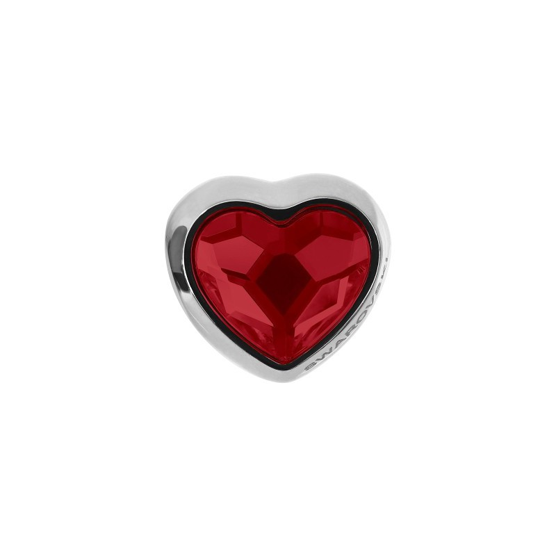 14mm BeCharmed Pavé Heart 81951 Light Siam (227) MetalBead Swarovski Elements