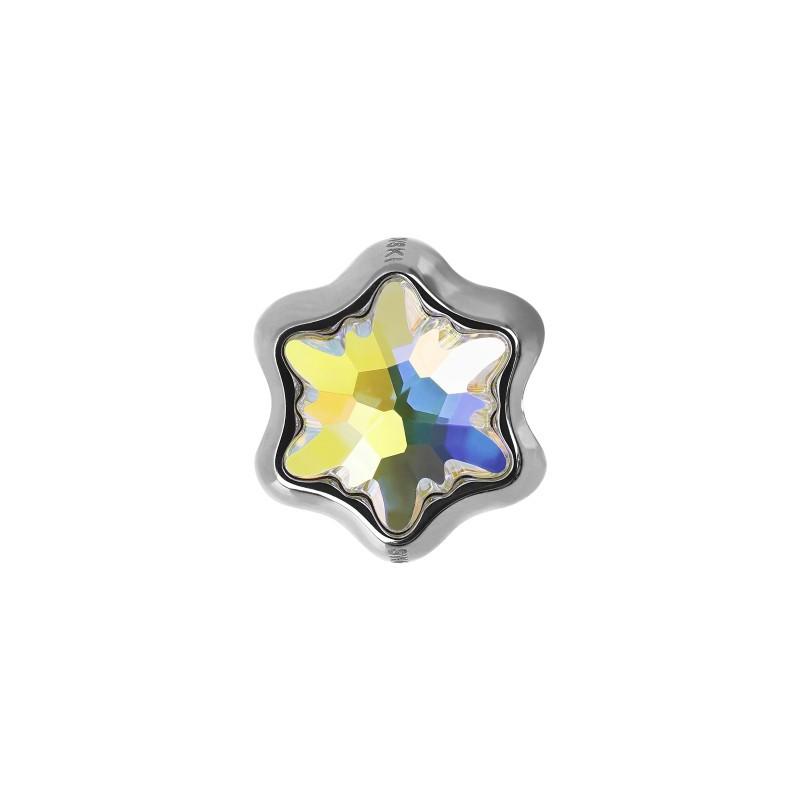 14mm BeCharmed Pavé Süda 81951 Crystal AB (001 AB) MetalHelmed Swarovski Elements