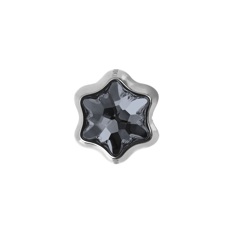 13.5mm BeCharmed Edelweiss 81961 Crystal AB (001 AB) MetalHelmed Swarovski Elements