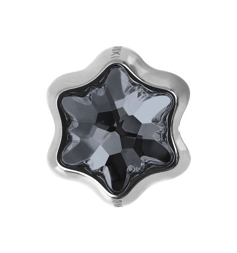 13.5mm BeCharmed Edelweiss 81961 Crystal Silver Night (001 SINI) MetalBead Swarovski Elements