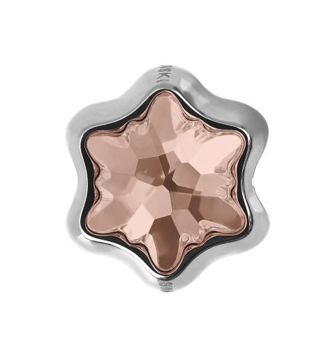 13.5mm BeCharmed Edelweiss 81961 Vintage Rose (319) MetalHelmed Swarovski Elements