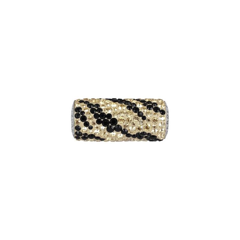 15mm BeCharmed Pavé Flying Heart 81883 Light Siam (227)/White (01) Bead Swarovski Elements