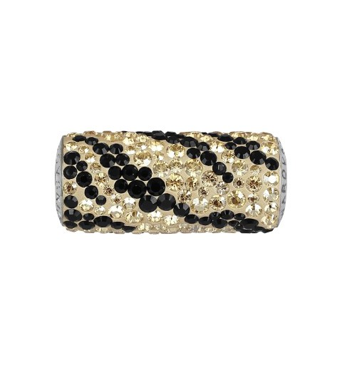 10mm BeCharmed Pavé Zebra 81982 Crystal Golden Shadow (001 GSHA) Bead Swarovski Elements