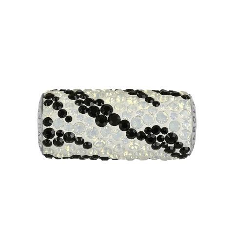 10mm BeCharmed Pavé Zebra 81982 White Opal (234) Bead Swarovski Elements