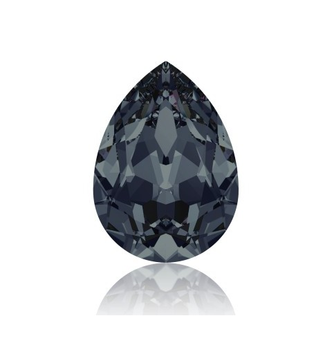 18x13mm Graphite F (253) Pear-Shaped Fancy Stone 4320 Swarovski Elements