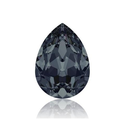 14x10mm Graphite F (253) Pear-Shaped Fancy Stone 4320 Swarovski Elements