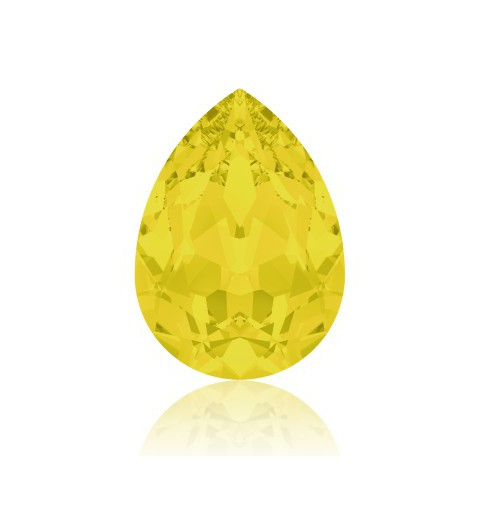 14x10mm Kollane Opaal F (231) Pirnikujuline Ehete Kristall 4320 Swarovski Elements