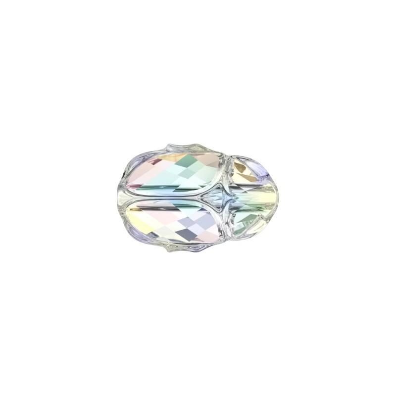 12MM Crystal AB (001 AB) 5728 Scarab Bead SWAROVSKI ELEMENTS