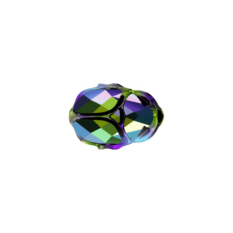 12MM Crystal AB (001 AB) 5728 Scarab Helmes SWAROVSKI ELEMENTS